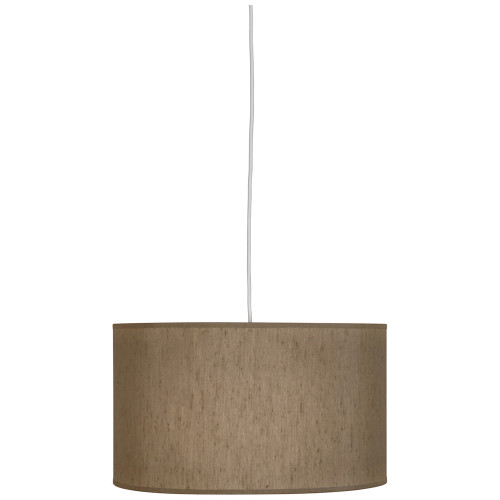 Shown in Small  with Mushroom Dupoini Fabric With Fabric Diffuser Shade