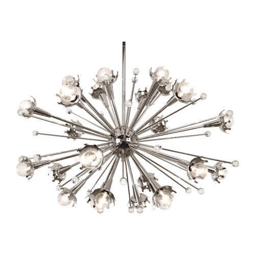 Shown in Small Polished Nickel with Crystal Accents
