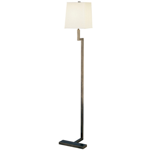Shown in Deep Patina Bronze with Square Snowflake Fabric With Top Diffuser Shade