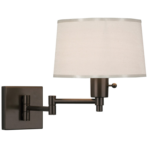 Shown in Small Dark Bronze with White With Bottom Diffuser Shade