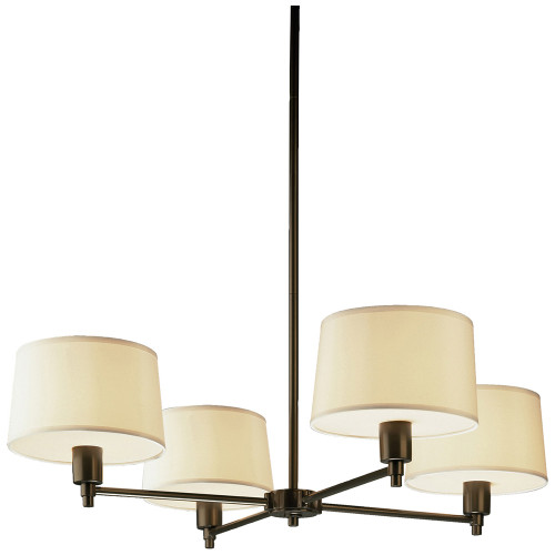 Shown in Deep Bronze with White with Bottom Diffuser Shade