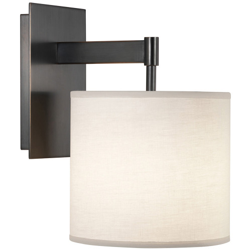 Shown in Deep Patina Bronze with Fondine Fabric Shade