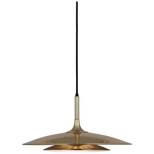 Shown in Polished Gold with Polished Gold Metal Shade