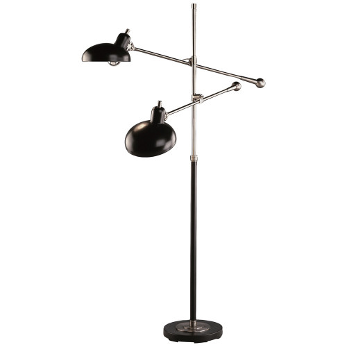 Shown in Lead Bronze with Ebonized Nickel Accents with Metal Shade
