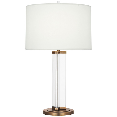 Shown in Aged Brass with Fondine Fabric Shade