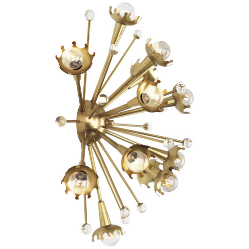 Shown in Large Antique Brass with Crystal Accents