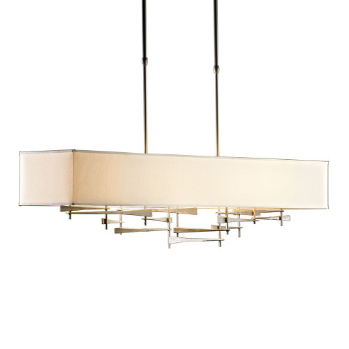Shown in Burnished Steel with Flax Shade
