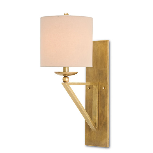 Shown in Vintage Brass with Light Beige Shantung Shade