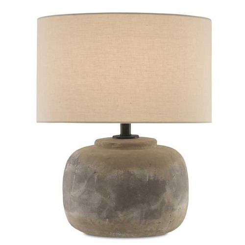 Shown in Antique Earth with Light Beige Linen Shade