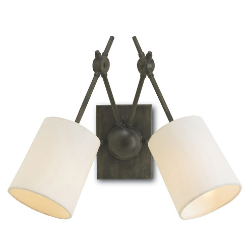 Shown in Cupertino with White Linen Shade