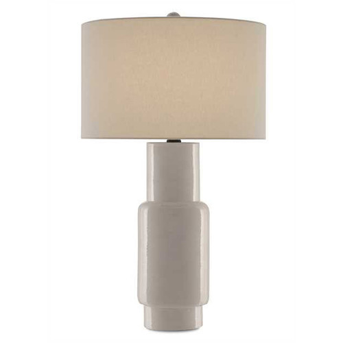 Shown in White with Off White Linen Shade