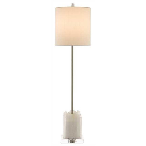 Shown in Natural/Polished Nickel with Off White Shantung Shade