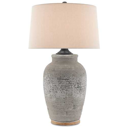 Shown in Rustic Gray/Aged Black with Sand Linen Shade