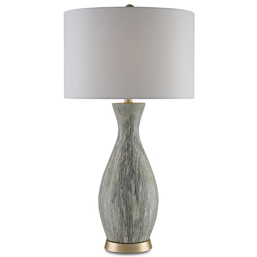 Shown in Light Green/White/Silver Leaf with Blanco Linen Shade