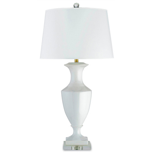Shown in White/Clear with White Parchment Shade