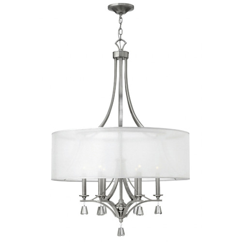 Shown in Large Brushed Nickel