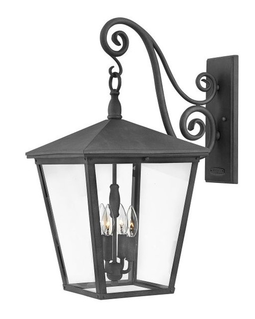 TRELLIS Aged Zinc - Clear Glass  Extra Large Wall Mount Lantern