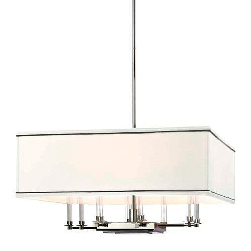 Shown in Polished Nickel with White/Black Trim Shade