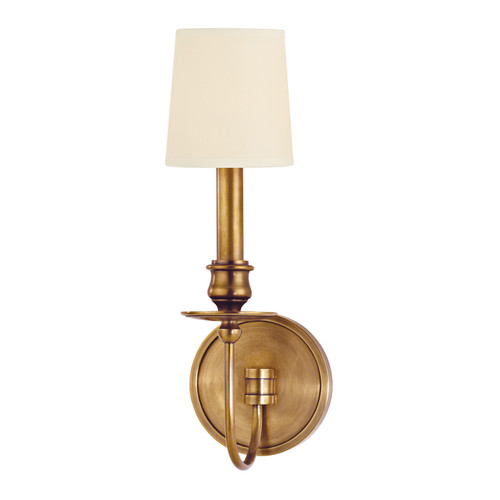 Shown in 1 Light Aged Brass with Cream Eco-Paper Shade