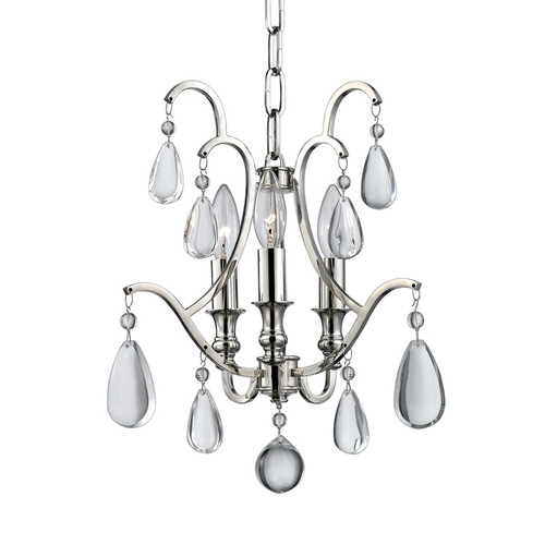 Shown in Polished Nickel with Clear Crystal Shade
