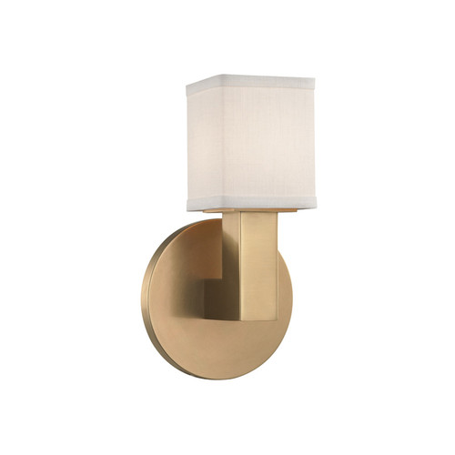 Shown in 1 Light Aged Brass with Linen Linen Shade