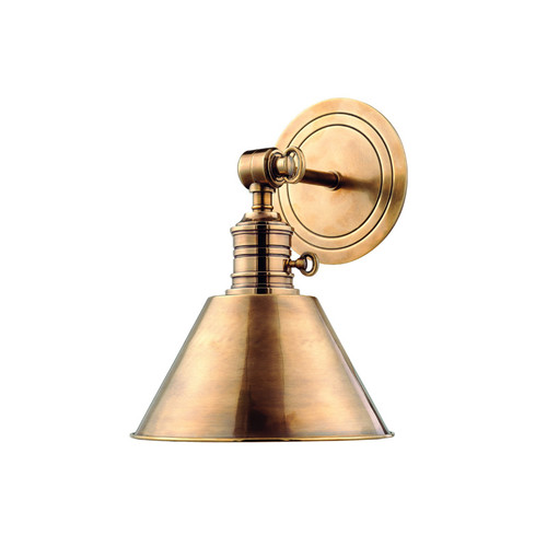 Shown in Aged Brass with Aged Brass Shade