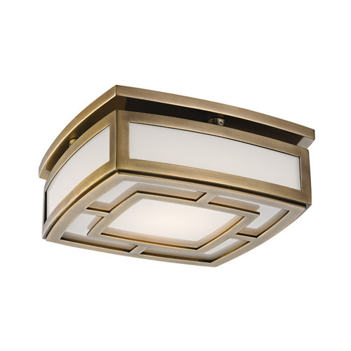 Shown in Small SMALL LED FLUSH MOUNT Aged Brass