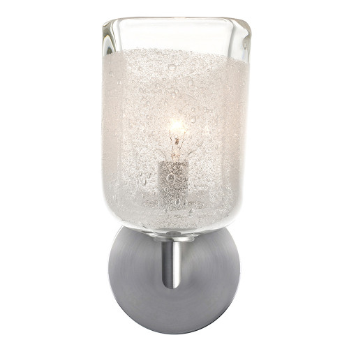 Shown in Satin Nickel with Clear Shade