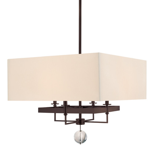 Shown in Old Bronze with Off White/White Trim Shade
