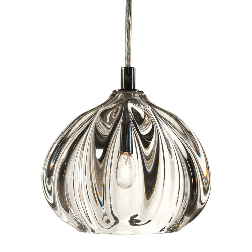 Shown in Polished Nickel with Clear Shade