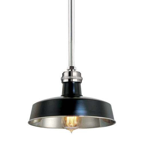 Shown in Black Polished Nickel with Black Polished Nickel Shade