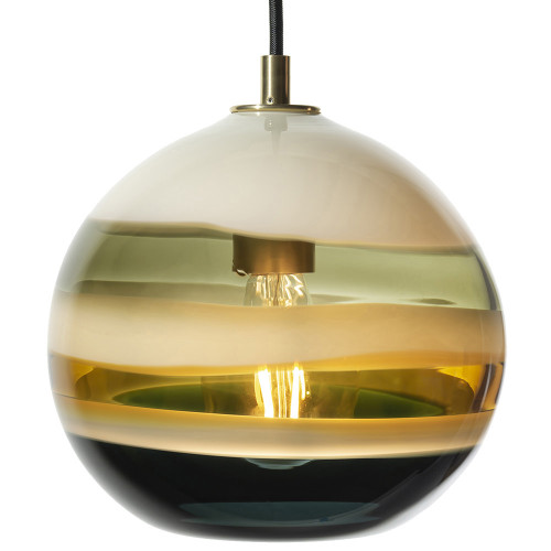 Shown in Satin Brass with Borrego Shade