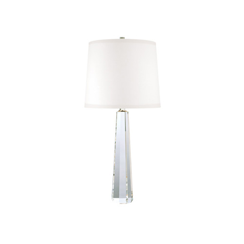 Shown in Polished Nickel with White Faux Silk Shade