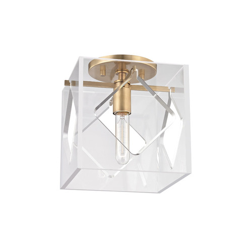 Shown in 1 Light Aged Brass with Clear Acrylic Shade