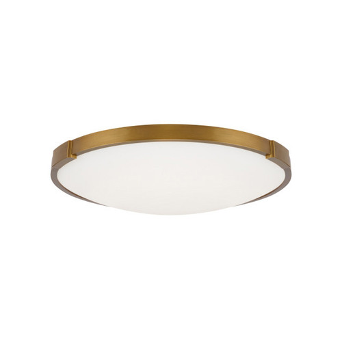 Shown in 13 inch Aged Brass with Frosted Glass Diffuser Shade