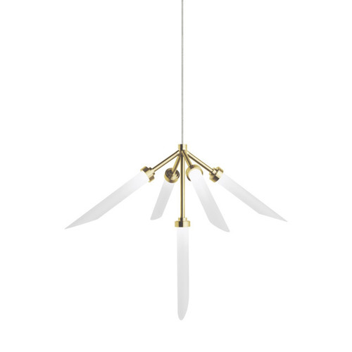 Shown in Aged Brass with Frosted Glass Flute Shade