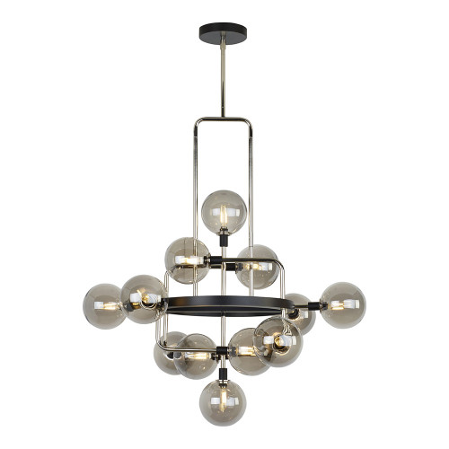 Shown in Polished Nickel with Smoke Glass