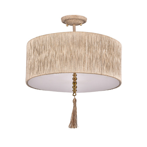 Shown in Brass with Hemp Shade