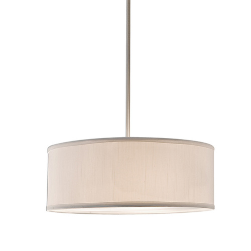 Shown in Small Brushed Nickel with White Shade