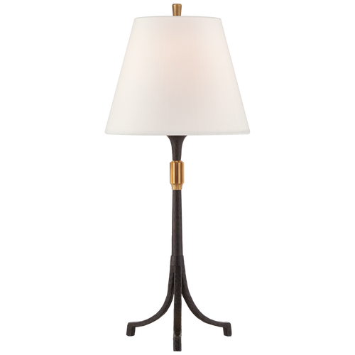 Arturo Medium Forged Table Lamp Aged Iron and Brass