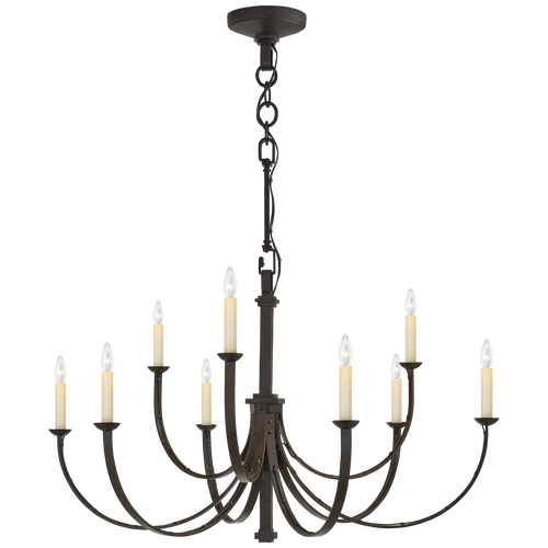 Reims Medium Chandelier Aged Iron