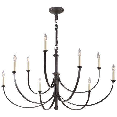 Reims Large Chandelier Aged Iron