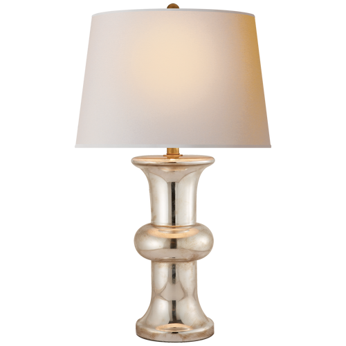 Bull Nose Cylinder Table Lamp Mercury Glass