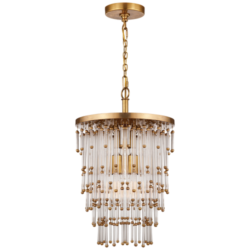 Mia Small Chandelier Hand-Rubbed Antique Brass
