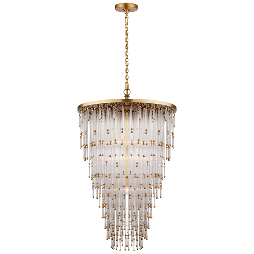 Mia Large Chandelier Hand-Rubbed Antique Brass