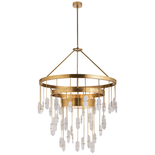 Halcyon Large Three Tier Chandelier Antique-Burnished Brass
