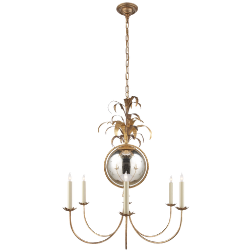 Gramercy Medium Chandelier Gilded Iron