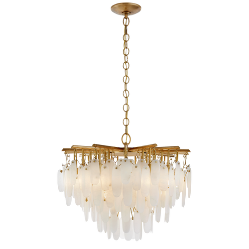 Cora Small Waterfall Chandelier Antique-Burnished Brass