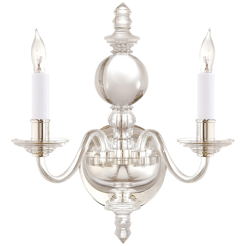 George II Double Sconce Crystal