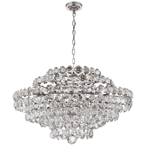 Sanger Large Chandelier Polished Nickel